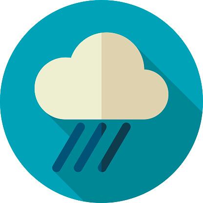 RRain Cloud flat icon. Downpour, rainfall. Weather. Vector illustration eps 10
