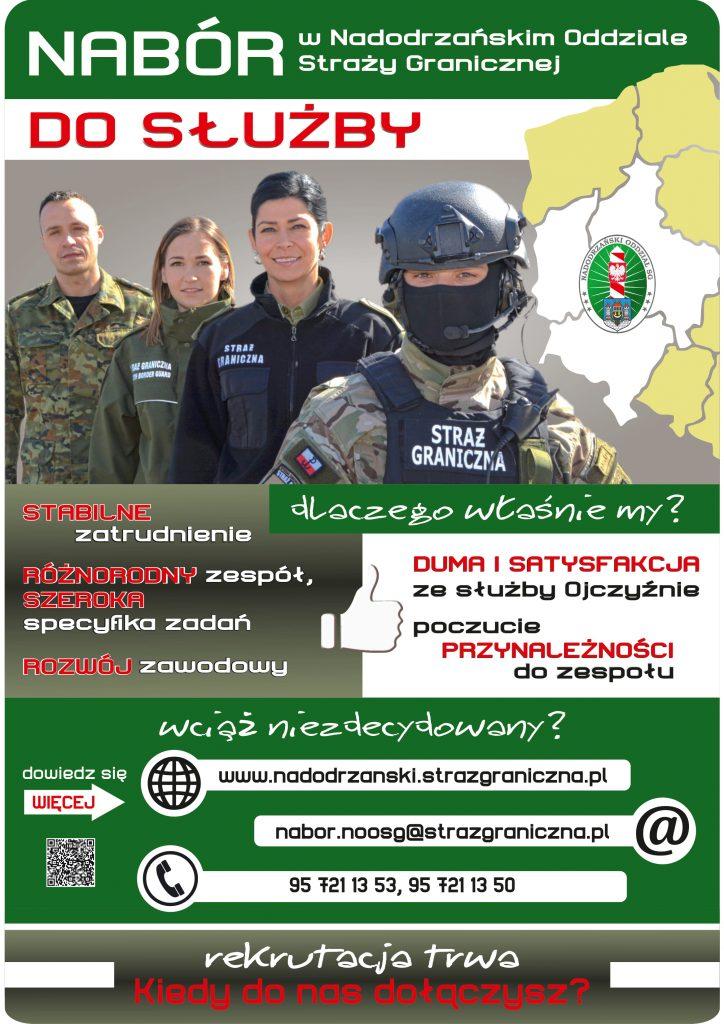 Nabór do do służby w Nadodrzańskim Oddziale Straży Granicznej